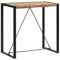 vidaXL baarilaud, 110 x 60 x 110 cm, taaskasutatud puit