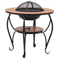 vidaXL tuleasemega laud, terrakota, 68 cm, keraamiline