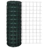 vidaXL traataed, teras, 25 x 0,8 m, roheline