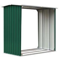 vidaXL puukuur tsingitud terasest, 172 x 91 x 154 cm, roheline