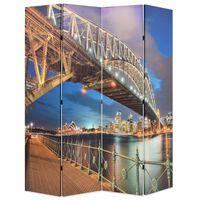 vidaXL kokkupandav sirm 160 x 170 cm, Sydney sadama sild