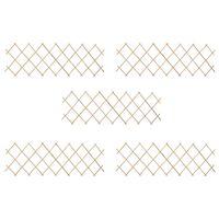 vidaXL võrkaia paneelid 5 tk, nulupuit, 180 x 60 cm