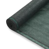 vidaXL tenniseväljaku võrk, HDPE, 1,6 x 100 m, roheline
