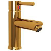 vidaXL vannitoa valamusegisti, kuldne, 130 x 176 mm