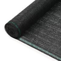 vidaXL tenniseväljaku võrk, HDPE, 1 x 25 m, must