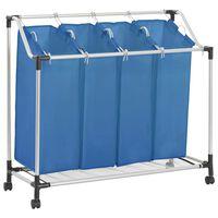 vidaXL pesusorteerija 4 kotiga, sinine, teras