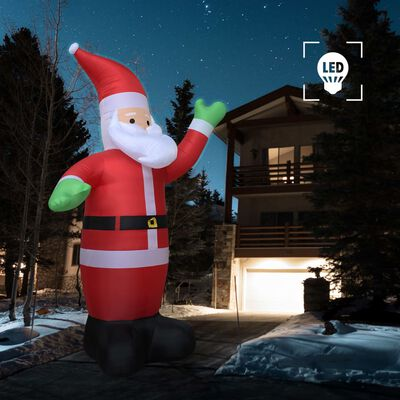 vidaXL täispumbatav jõuluvana, LED, IP44, 600 cm XXL