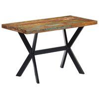 vidaXL söögilaud, 120 x 60 x 75 cm, toekas taaskasutatud puit