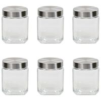 vidaXL klaasist säilituspurgid, hõbedane kaas, 6 tk, 1200 ml
