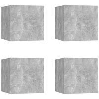 vidaXL seina telerikapid, 4 tk, betoonhall, 30,5x30x30 cm