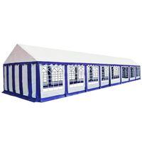 vidaXL aiatelk, PVC, 6 x 16 m, sinine ja valge