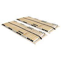 vidaXL voodi aluspõhjad, 2 tk, 28 liistu, 7 piirkonda, 80 x 200 cm