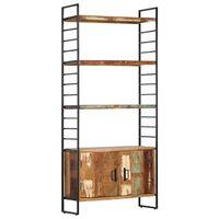 vidaXL 4 riiuliga raamaturiiul 80 x 30 x 180 cm, taastatud puit