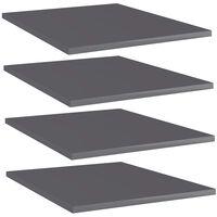 vidaXL riiuliplaadid 4 tk, hall, 40x50x1,5 cm, puitlaastplaat