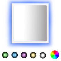 vidaXL vannitoa peeglikapp, valge, 40 x 8,5 x 37 cm, puitlaastplaat