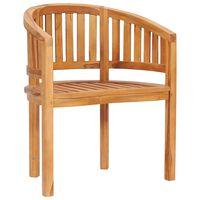 vidaXL banaanikujuline tool, tiikpuu