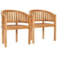 vidaXL banaanikujulised toolid, 2 tk, tiikpuu