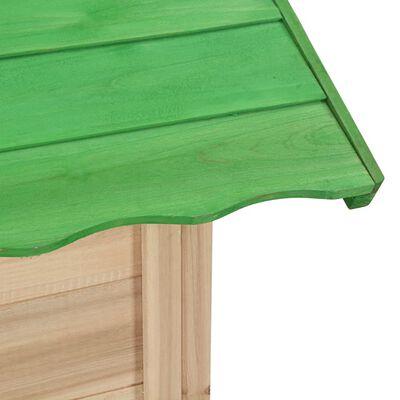 vidaXL laste mängumaja nulupuidust roheline