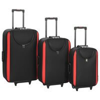 vidaXL pehmed kohvrid, 3 tk, must, oxford-kangas