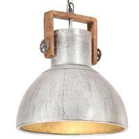 vidaXL tööstuslik laelamp 25 W hõbedane, ümmargune 40 cm E27