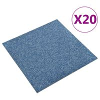 vidaXL põranda plaatvaibad 20 tk, 5 m², 50 x 50 cm, sinine