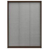 vidaXL plisseeritud putukavõrk aknale, alumiinium, pruun, 80 x 120 cm
