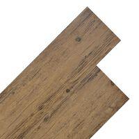 vidaXL PVC-st põrandalauad 4,46 m², 3 mm pähkelpruun