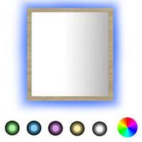 vidaXL LED vannitoa peeglikapp, Sonoma tamm, 40 x 8,5 x 37 cm, puitlaastplaat