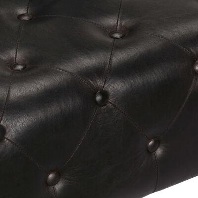 vidaXL lennukistiilis tugitool, must, ehtsast nahast