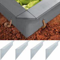 vidaXL teoaia plaadid, 4 tk, tsingitud teras 150 x 7 x 25 cm 0,7 mm