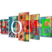 Seinamaalikomplekt Home, 200 x 100 cm