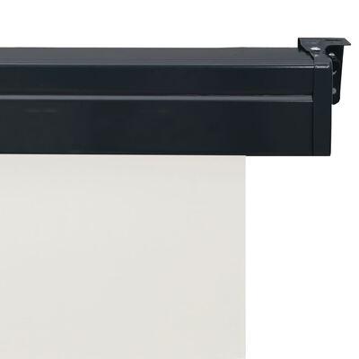 vidaXL rõdu külgsein, 120 x 250 cm, kreemjasvalge