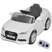 vidaXLi elektriline pealeistutav puldiga auto Audi A3 valge