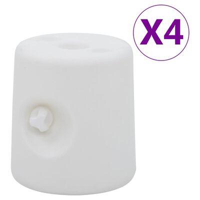 vidaXL lehtlaraskused 4 tk, PE, valge