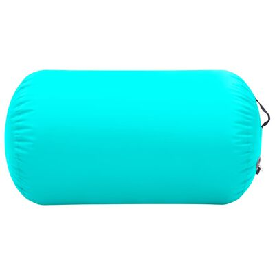 vidaXL täispumbatav võimlemisrull pumbaga 100x60 cm PVC roheline, Roheline