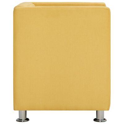 vidaXL kuubikukujuline tugitool, kollane, kangas