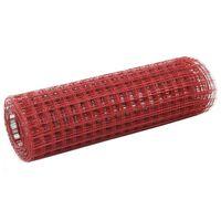 vidaXL kanade traataed teras, PVC kattega 25 x 0,5 m, punane