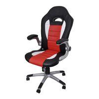 Tänapäevase disainiga kunstnahast tool kontorisse punane