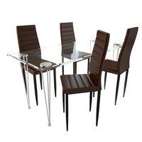 Neljast pruunist peenest toolist ja ühest klaaslauast koosnev komplekt