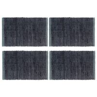 vidaXL lauamatid 4 tk, Chindi, tavaline, antratsiit, 30x45 cm, puuvill