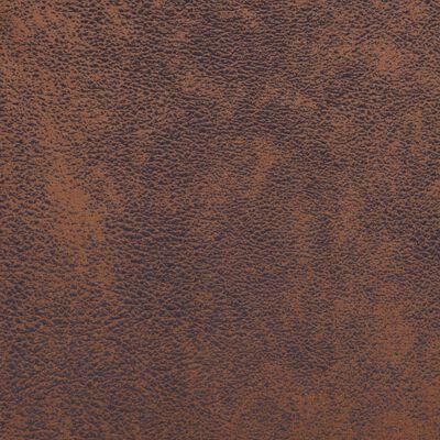 vidaXL kuubikukujuline tugitool, pruun, kunstseemisnahast