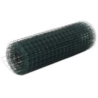 vidaXL kanade traataed teras, PVC kattega 25 x 0,5 m, roheline