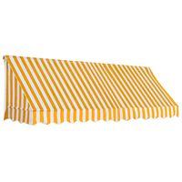 vidaXL bistroo varikatus, 300 x 120 cm, oranž ja valge