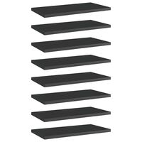 vidaXL riiuliplaadid 8 tk, must, 40x20x1,5 cm, puitlaastplaat