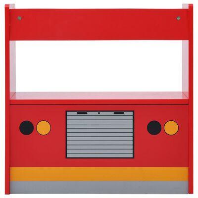 vidaXL 3-osaline laste laua- ja toolikomplekt, tuletõrjeauto, puit