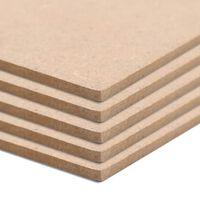 vidaXL MDF-plaat 5 tk ristkülikukujuline 120 x 60 cm 2,5 mm