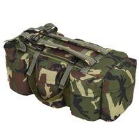 vidaXL kolm ühes armeestiilis riidest reisikott 120 l, kaitsevärvi