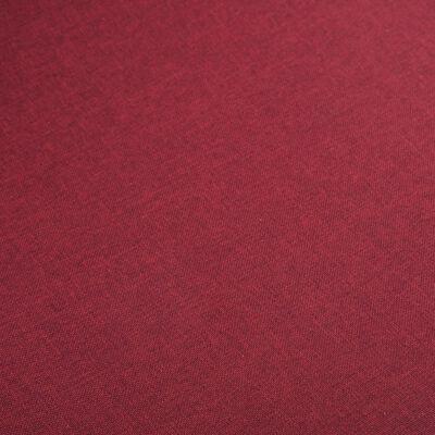 vidaXL söögitoolid 4 tk punane kangas ja tammepuit