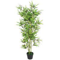 vidaXL kunsttaim bambus potiga 120 cm, roheline