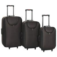 vidaXL pehmed kohvrid, 3 tk, pruun, oxford-kangas